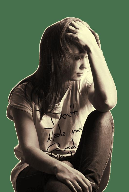 female addict ready for rehab